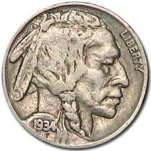 1934 Buffalo Nickel Good+