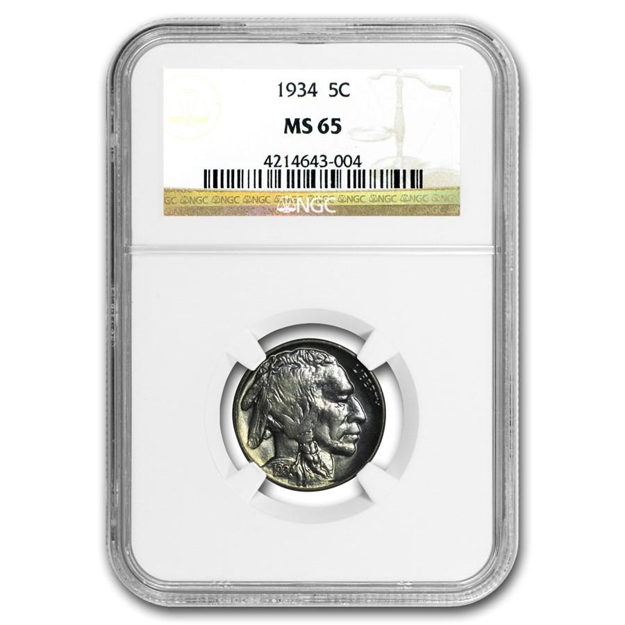 1934 Buffalo Nickel MS-65 NGC