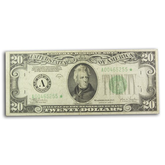 1934-C* (A-Boston) $20 FRN Fine (Fr#2057-A*) Star Note