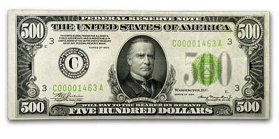 1934 (C-Philadelphia) $500 FRN XF