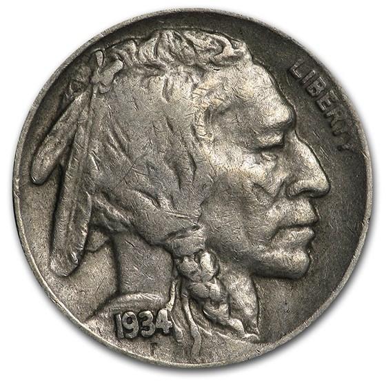 1934-D Buffalo Nickel XF
