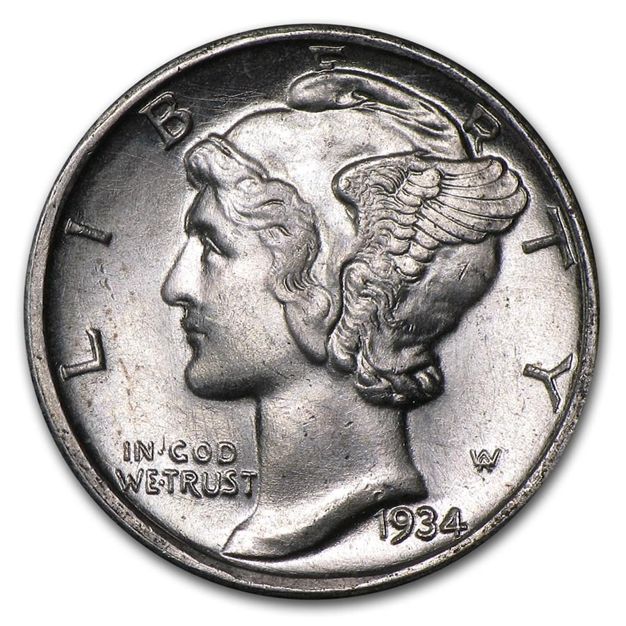 1934-D Mercury Dime BU