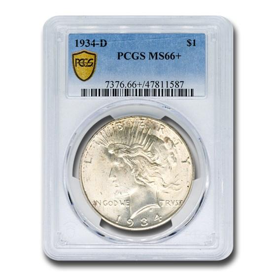 1934-D Peace Dollar MS-66+ PCGS