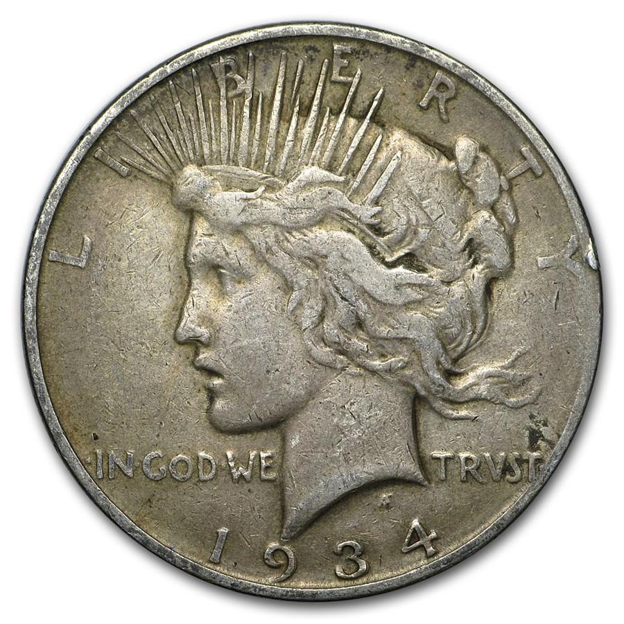 1934-D Peace Dollar VG/VF