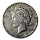 1934-D Peace Dollar XF Details (Cleaned)