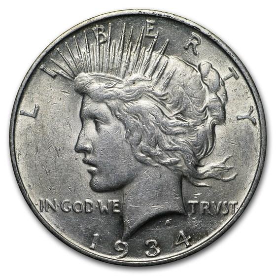 1934-D Peace Dollar XF