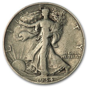 1934-D Walking Liberty Half Dollar VG/VF