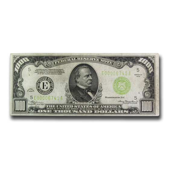 1934 (E-Richmond) $1,000 FRN VF (Fr#2211-E) LGS