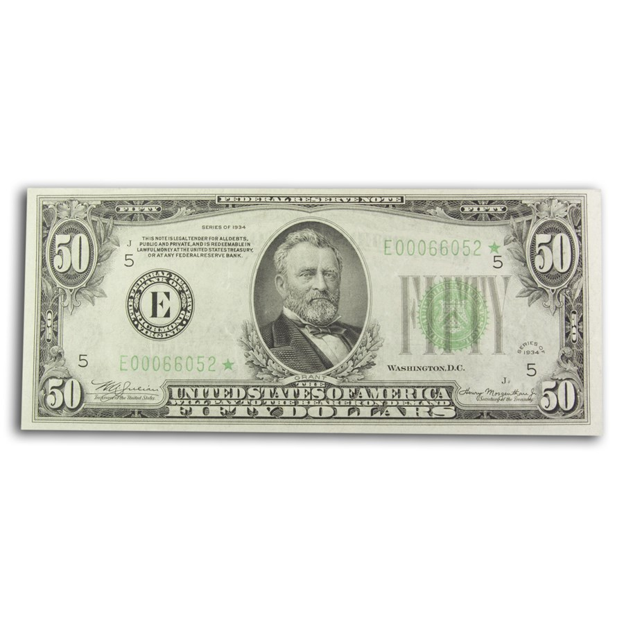 1934* (E-Richmond) $50 FRN XF (Fr#2102-E*) Star Note