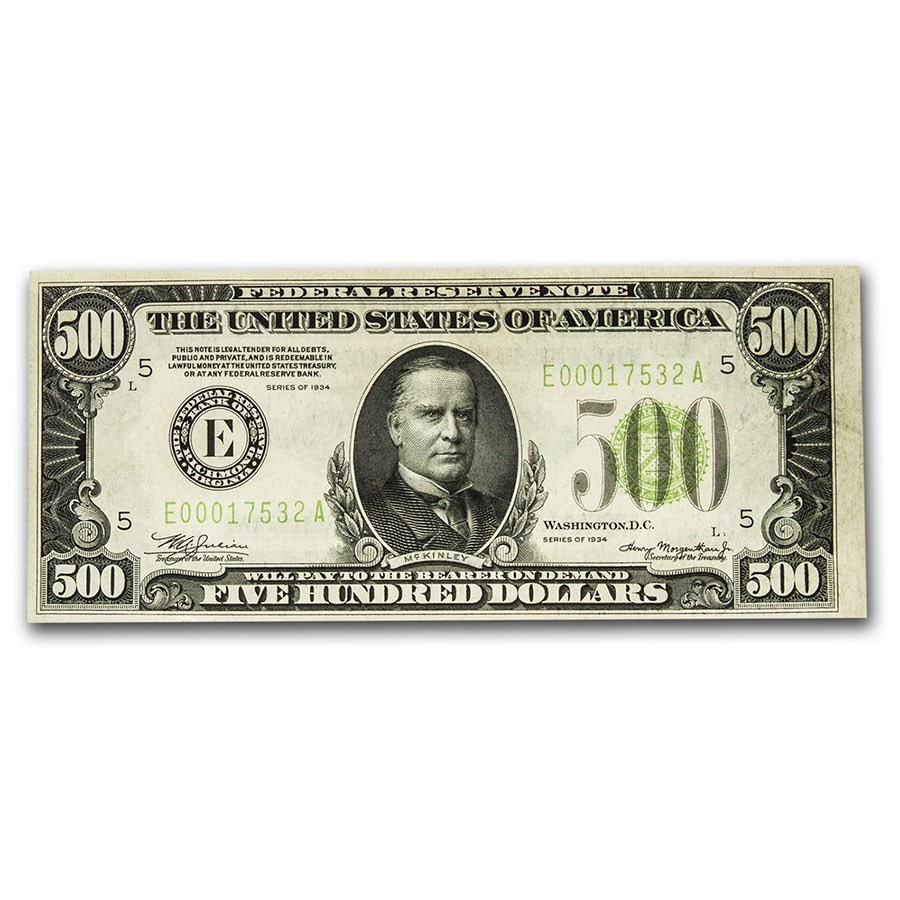 1934 (E-Richmond) $500 FRN AU