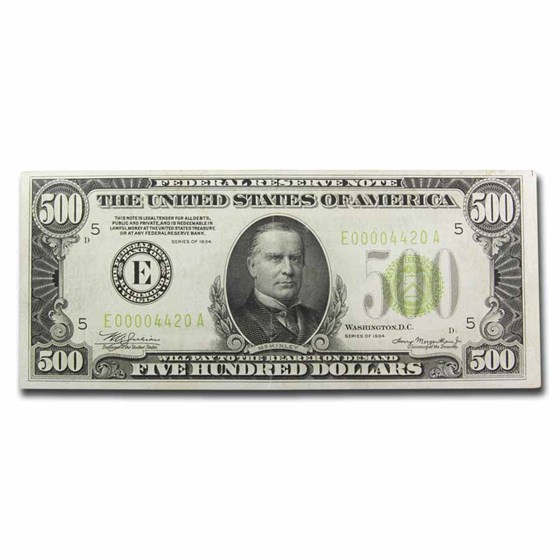 1934 (E-Richmond) $500 FRN XF (LGS)