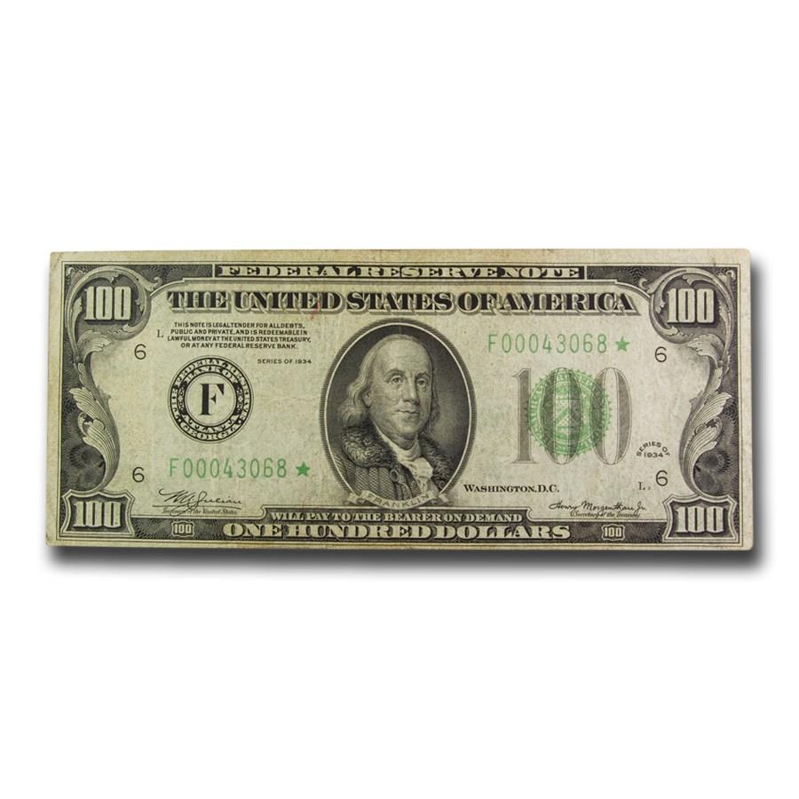 1934* (F-Atlanta) $100 FRN VF (Fr#2152-F*) Star Note