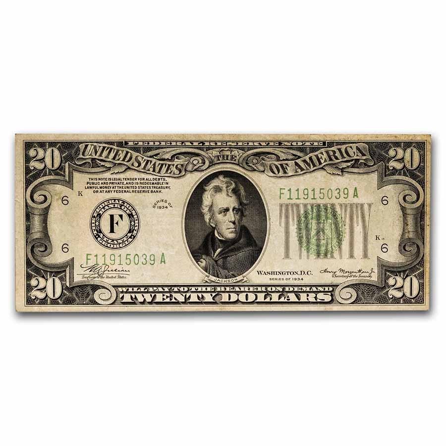 1934 (F-Atlanta) $20 FRN AU (Fr#2054-F)