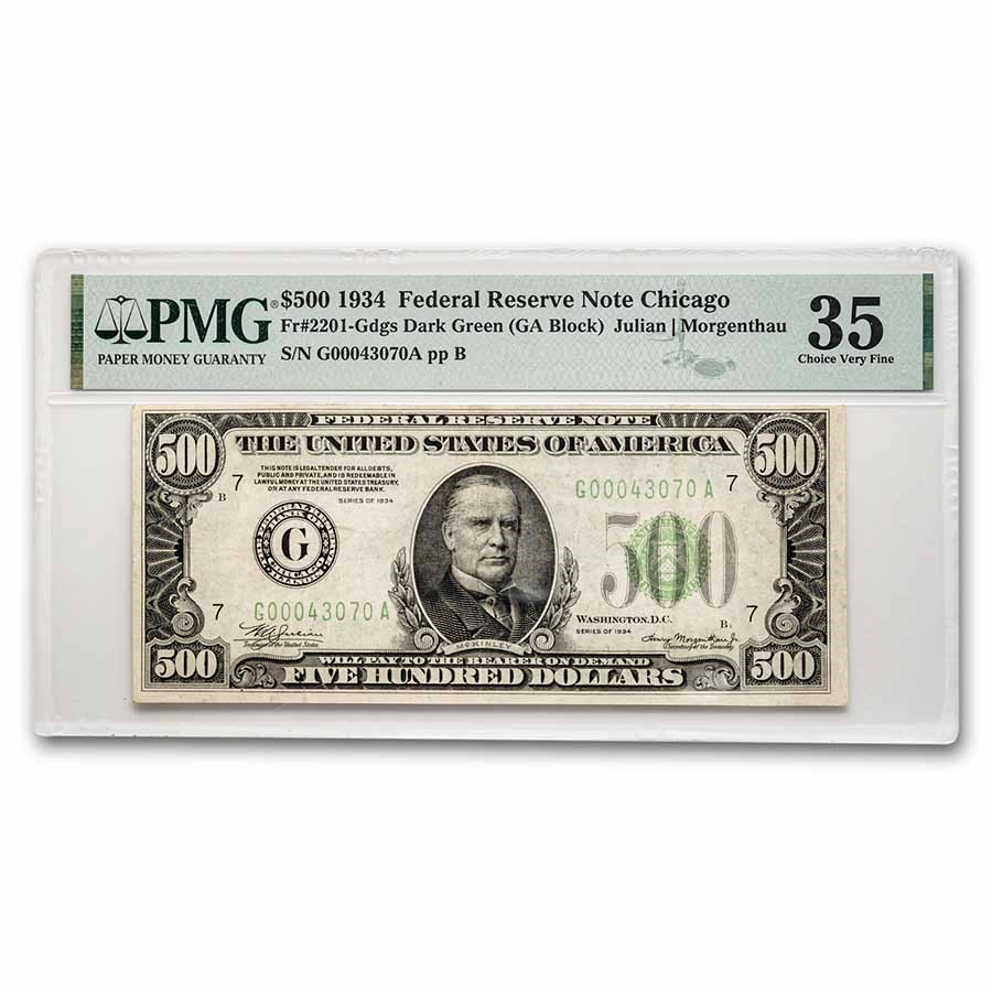 1934 (G-Chicago) $500 FRN VF-35 PMG