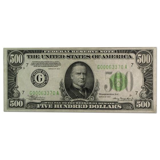1934 (G-Chicago) $500 FRN XF