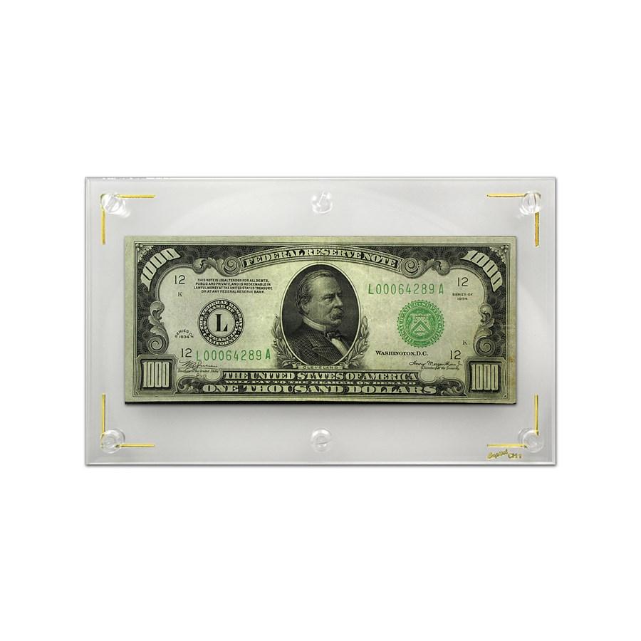 1934 (L-San Francisco) $1,000 Federal Reserve Note VF+