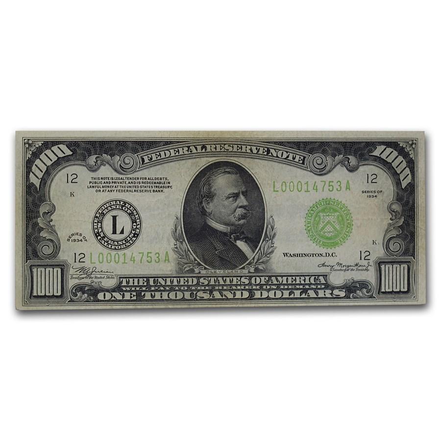 1934 (L-San Francisco) $1,000 FRN VF (LGS)