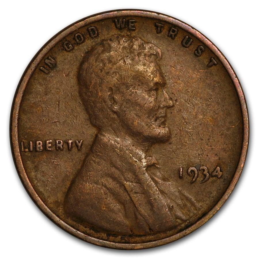 1934 Lincoln Cent Fine+