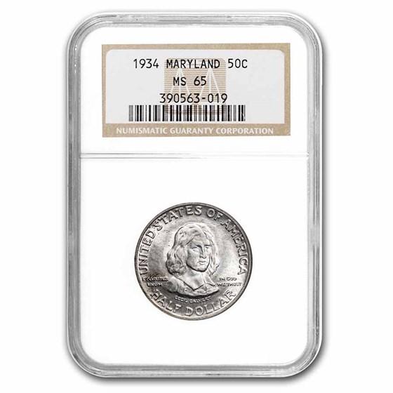 1934 Maryland Tercentenary Half Dollar MS-65 NGC