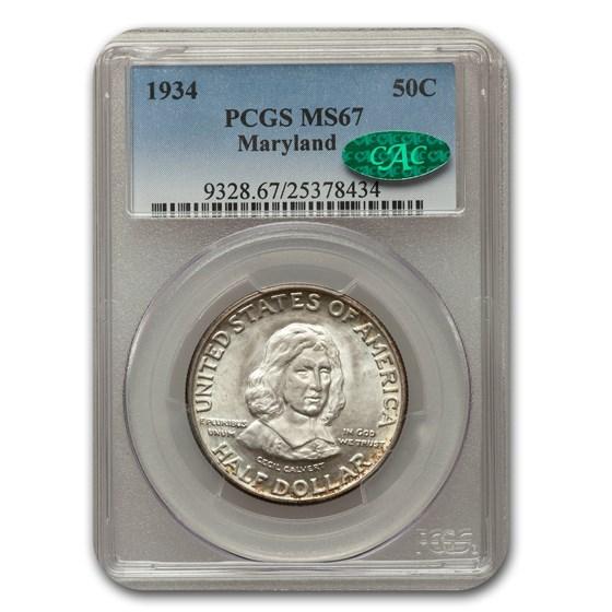 1934 Maryland Tercentenary Half Dollar MS-67 PCGS CAC