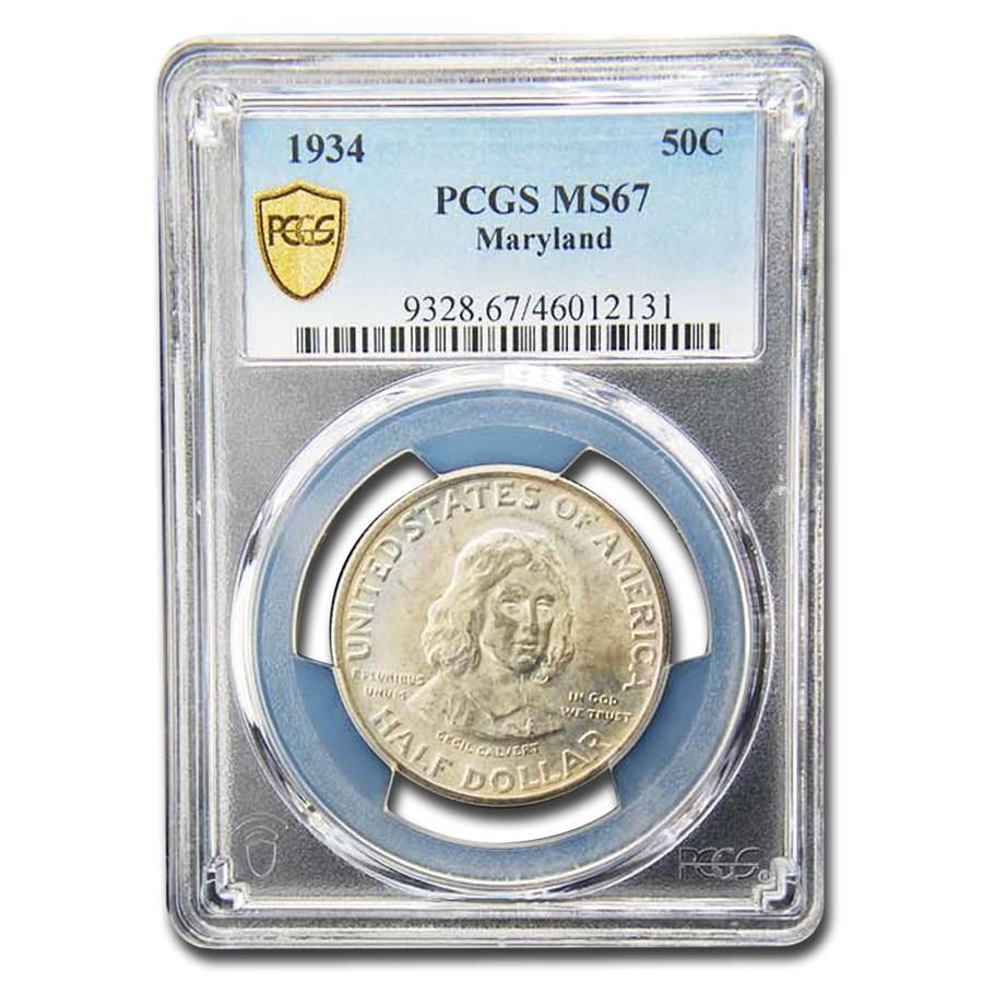 1934 Maryland Tercentenary Half Dollar MS-67 PCGS
