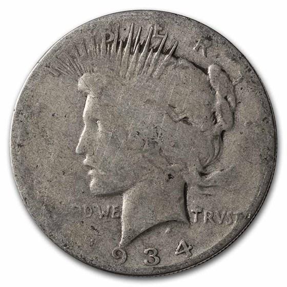 1934 Peace Dollar Cull