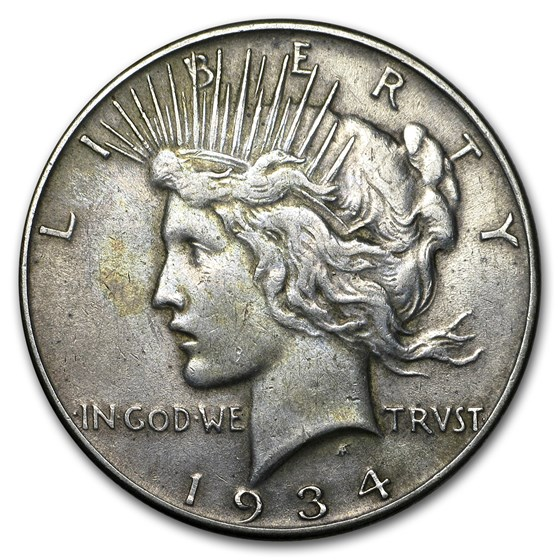 1934 Peace Dollar VG/VF