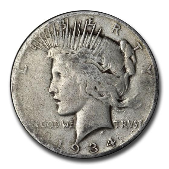 1934-S Peace Dollar AG