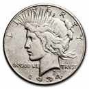 1934-S Peace Dollar VF (Cleaned)