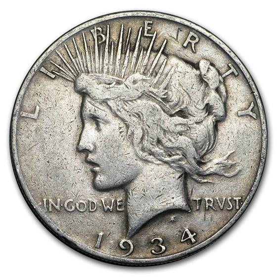 1934-S Peace Dollar VG
