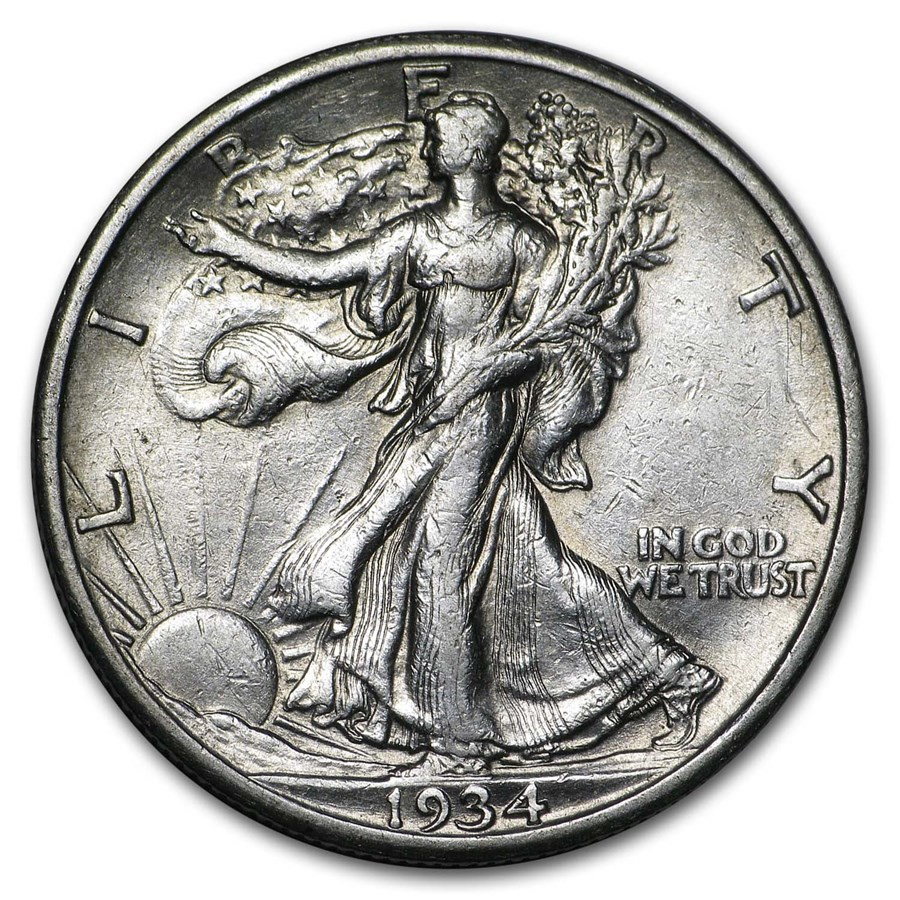 1934-S Walking Liberty Half Dollar XF