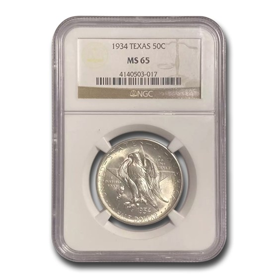1934 Texas Centennial Commemorative Half Dollar MS-65 NGC