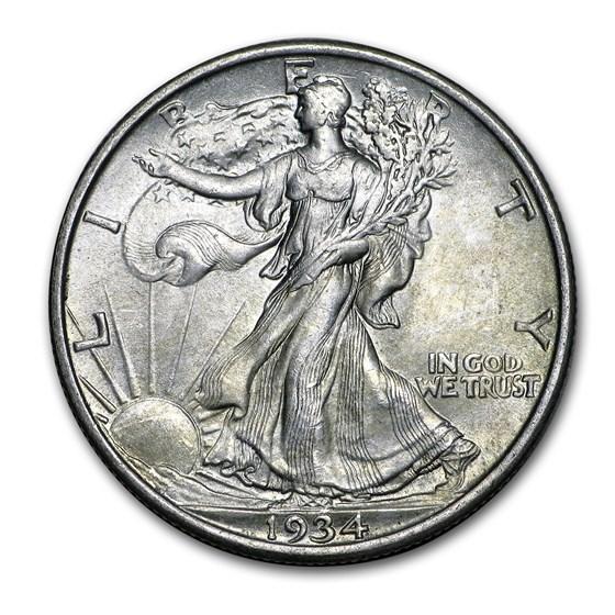 1934 Walking Liberty Half Dollar BU