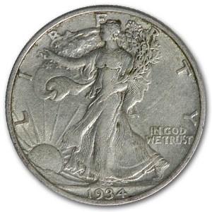 1934 Walking Liberty Half Dollar XF