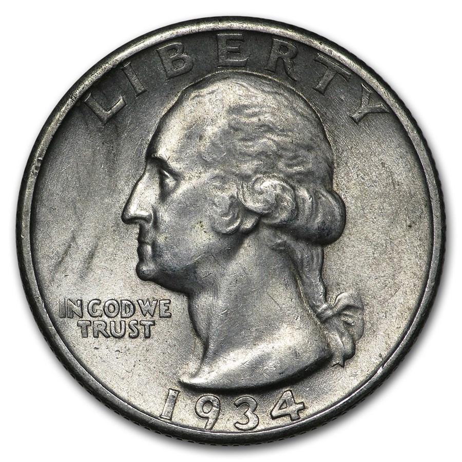 1934 Washington Quarter BU (Heavy Motto)
