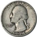 1934 Washington Quarter Good/VF