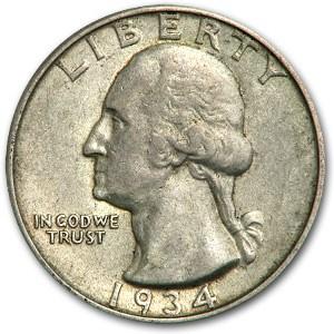 1934 Washington Quarter XF