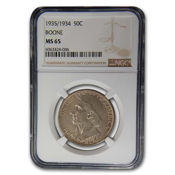 1935/1934 Boone Half Dollar MS-65 NGC