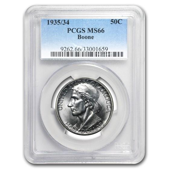 1935/1934 Boone Half Dollar MS-66 PCGS