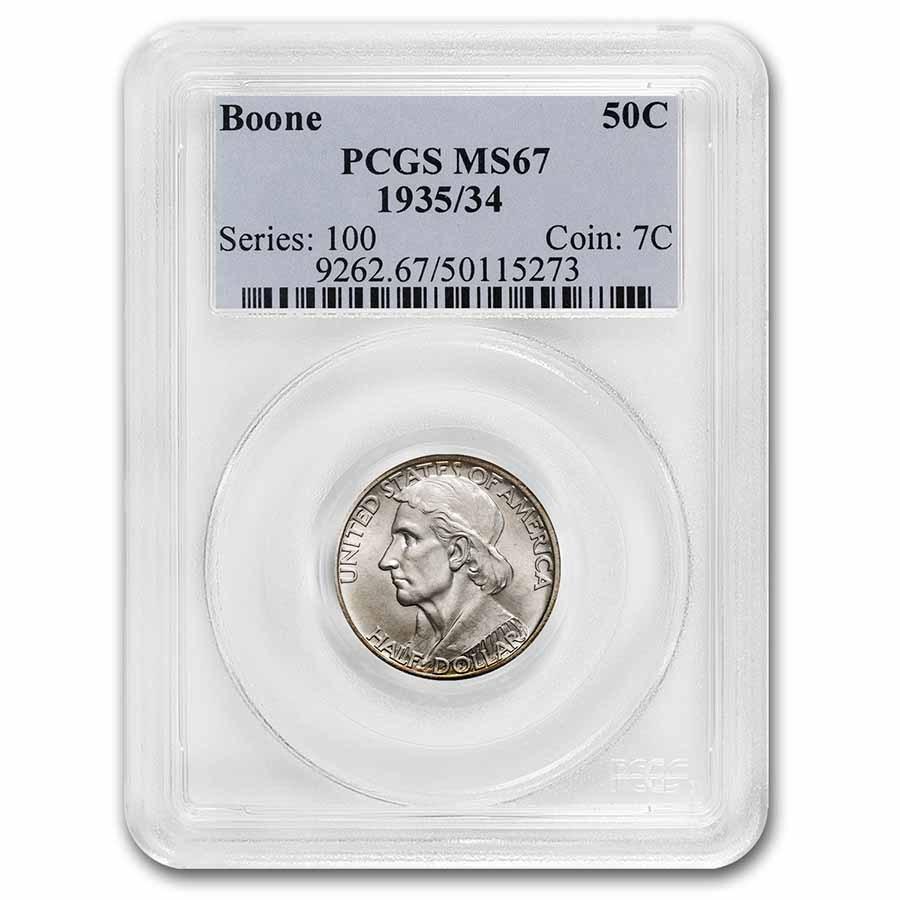 1935/1934 Boone Half Dollar MS-67 PCGS