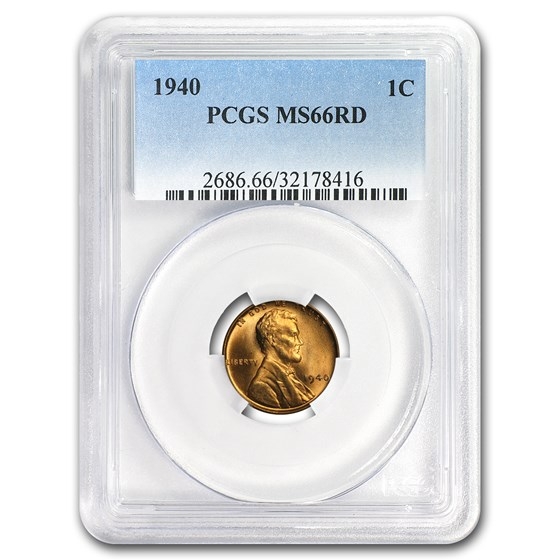 1935-1958 Lincoln Cent MS-66 PCGS (Red, Dates of our Choice)