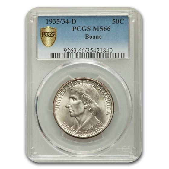 1935/34-D Daniel Boone Half Dollar MS-66 PCGS