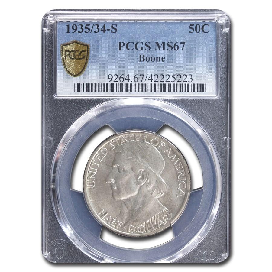 1935/34-S Boone Commemorative Half Dollar MS-67 PCGS