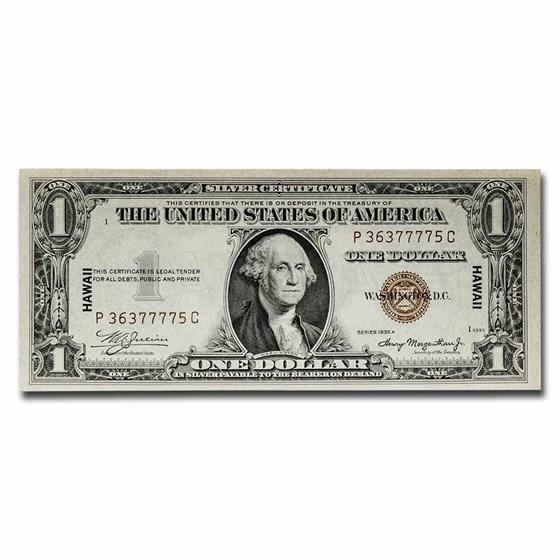 1935-A $1.00 Brown Seal Hawaii Choice CU (Fr#2300)