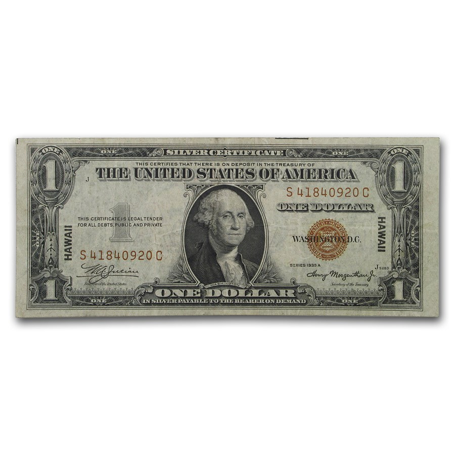 1935-A $1.00 Brown Seal Hawaii VF (Fr#2300)