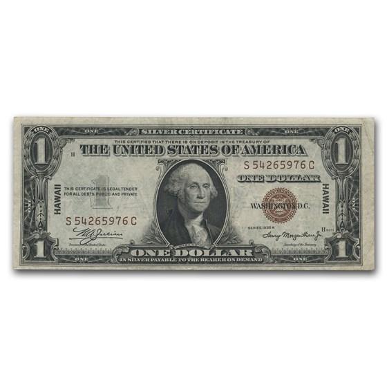 1935-A $1.00 Brown Seal Hawaii XF