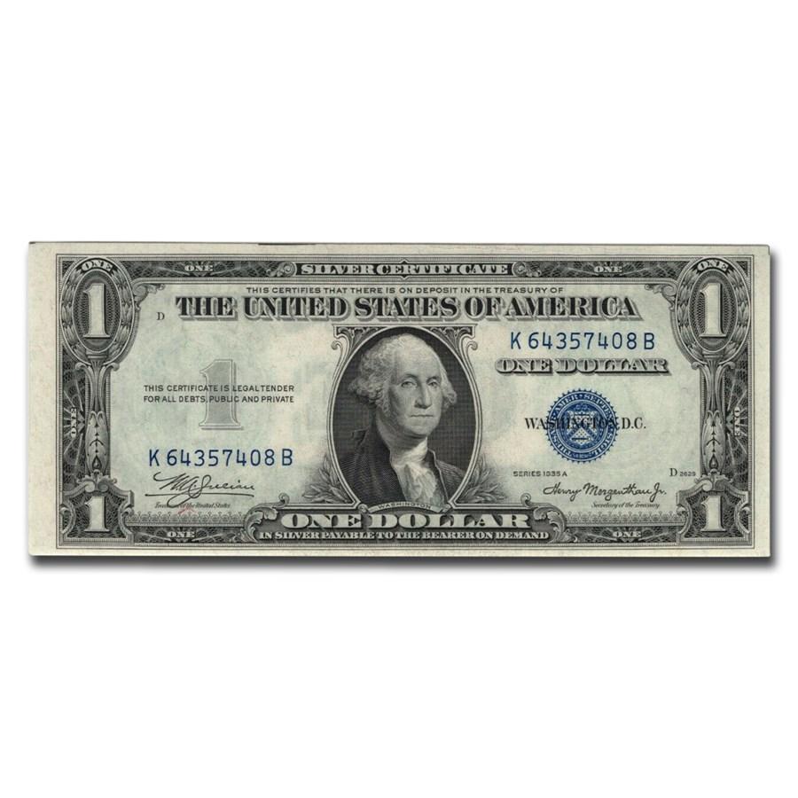 1935-A $1.00 Silver Cert CU-65 EPQ PMG (Fr#1608)
