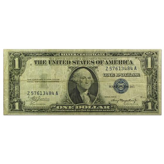 1935-A $1.00 Silver Certificate VF (Mule, X/Z-A block)