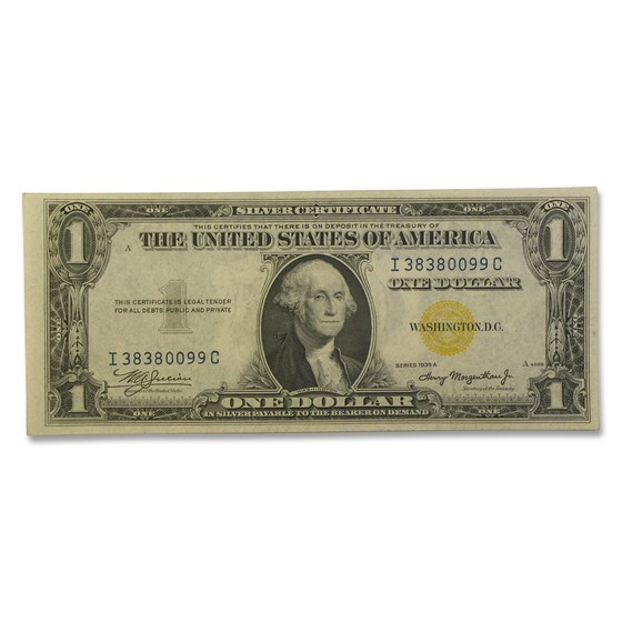 1935-A $1.00 Yellow Seal North Africa AU (Fr#2306)