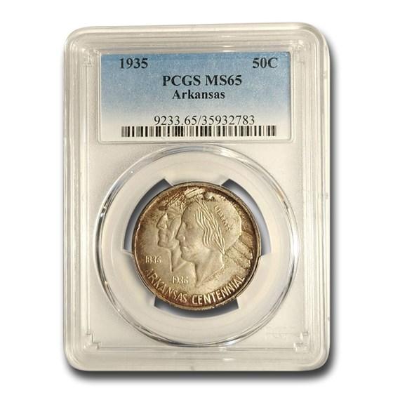 1935 Arkansas Centennial Commemorative Half Dollar MS-65 PCGS
